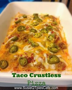http://www.susieqtpiescafe.com/2013/09/Crustless-Pizza-Recipe-Gluten-Free-Pizza.html