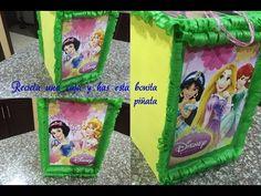 Piñata princesas en forma de cartera, Princesses piñata shaped bag - YouTube