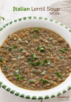 Italian soup made with red lentils from our Traditions by Foodhall range.