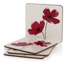 Poppy 4pk Coasters