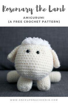 Rosemary the Lamb Free Crochet Pattern