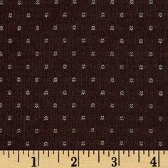 Jersey Knit  Brown/White