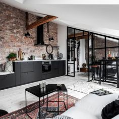 Home Inspiration // The Nord Room Brick walls and industrial vibe for an artisti… Home Inspiration // The Nord Room Brick walls and industrial vibe for an artistic apartament The Definitive Source for Interior Designers Attic Apartment, Apartment Interior, Apartment Design, Brick Interior, Asian Interior, Interior Design Inspiration, Home Interior Design, Interior Architecture, Design Loft