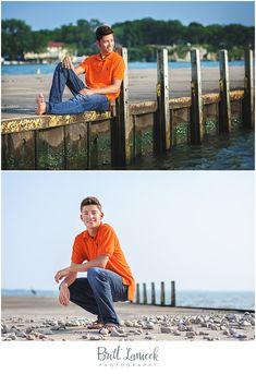 Lake Erie senior portraits by Britt Lanicek Photography