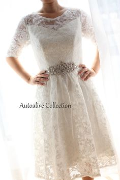 Vintage Inspired French Corded Lace Elbow/Quarter by autoalive, $159.00