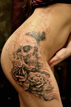 Skull #tattoo. This is right where I want my skull tattoo!!! Me too!