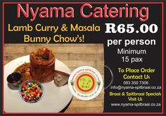 Nyama Bunny Chow Special Chow Chow, Facebook Sign Up, Bunny, Menu, Food, Menu Board Design, Hare, Eten, Rabbit