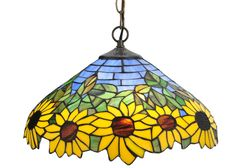 "Meyda 16""W Wild Sunflower Pendant"