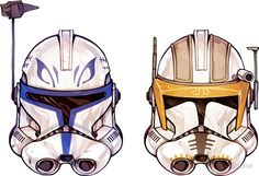 Rex + Cody two-pack by lornaka Clone Trooper Helmet, Star Wars Helmet, Star Wars Clones, Star Wars Clone Wars, Star Trek, Star Wars Pictures, Star Wars Images, Cuadros Star Wars, Stormtrooper