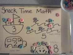 Snack time math - number concepts