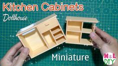 DIY Miniature Kitchen Cabinets | How to make Kitchen cabinets for your D...