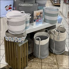 Ceramic Skillet, Retail Fixtures, Wood Crates, Storage Baskets, Shelving, Wicker, Display, Home Decor, Wood Boxes