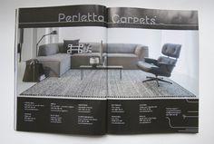 Deze maand staat Flow Wonen in het tijdschrift Stijlvol Wonen als leverancier van Perletta Carpets! Perletta is specialist in prachtige handgeweven vloerkleden van 100% wol. Perletta bied verschillende collecties met structuren en kleuren. De vloerkleden kunnen in standaard afmetingen maar ook op maat gemaakt worden. Kom naar onze winkels om de uitgebreide collectie te bewonderen! Zoals afgebeeld: Limone Mix in de kleur 239 en 100.