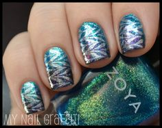 Swirl nails featuring Zoya Nail Polish in Charla and Zoya Julieanne - this looks so cool!!