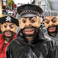 Careta con Barba #mascaras #antifaces #carnaval