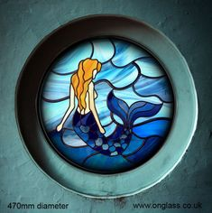 Image result for Mermaid Pattern Stained Glass Paned Expressions