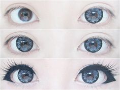 Gyaru eye makeup!                                                                                                                                                                                 More