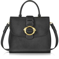 Roberto Cavalli Handbags Black Leather Tote Bag (3,215 NZD) ❤ liked on Polyvore featuring bags, handbags, tote bags, black, structured tote, leather tote purse, structured tote bag, leather tote bags and genuine leather tote