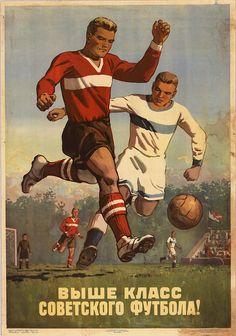 Soviet football illustration 1954