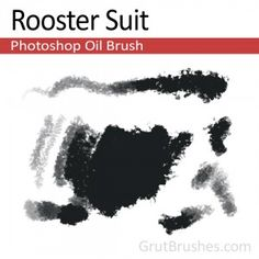 """Rooster Suit"" - Photoshop Oil BrushA very versatile multi purpose oil bush that is capable of light blended shading at the low pressure end and thick sharp edged opaque coverage with splattery edges at peak pressure. Oil Brush, Artist Brush, Photoshop Brushes, Rooster, Cool Photos, Purpose, Suit, Graphic Design, Painting"