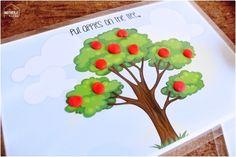 Play Dough activity mat printables