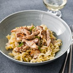 F&W's Grace Parisi steals the flavors from a classic French pan sauce (mustard, tarragon, white wine and cream) for this quick chicken sauté.  ...