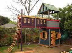 31 Free DIY Playhouse Plans to Build for Your Kids' Secret Hideaway – natalia Backyard Playset, Backyard Swings, Backyard For Kids, Backyard Ideas, Garden Ideas, Outdoor Forts, Playhouse Outdoor, Outdoor Fun, Outdoor Ideas