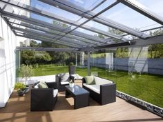 Glashaus light – sliding glass doors – patio roofing – winter garden, glass house light, patio roof or sunshade by Glashaus Rehm in Neckartailfingen near Stuttgart Pergola With Roof, Patio Roof, Pergola Patio, Pergola Kits, Backyard Patio, Corner Pergola, Pergola Designs, Patio Design, Lanai Design