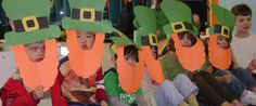St. Patrick's Day Leprechaun Hat and Beard Craft,... Yes for st pattys day parade. ms Sam