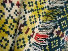 tapestry weave vintage welsh blanket