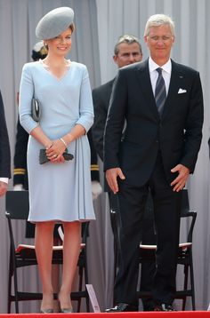 Queen Mathilde and King Philippe. | http://aol.it/1pU48eP via @stylelist