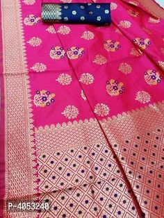 Multicoloured Silk Blend Saree with Blouse piece Silk Saree Banarasi, Designer Silk Sarees, Best Budget, Jacquard Weave, Floral Motif, Designer Wear, Types Of Fashion Styles, Alexander Mcqueen Scarf, Trendy Fashion