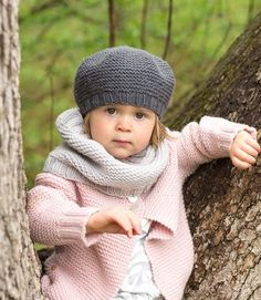 Lottie cardigan, beret and cowl pattern set by Carrie Bostick-Hoge (knitting, seamless)