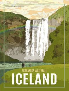 Iceland - Vintage Travel Poster #vintagetravelposters
