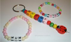 Mother's Day Craft Idea for Children - Personalised Bracelets for Mum
