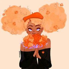 """""""Every day you've got me spinnin' """" Art for mangokitty's newest song, Spinnin'… Black Girl Art, Art Girl, Black Art, Pretty Art, Cute Art, Illustrations, Illustration Art, Arte Sketchbook, Dibujos Cute"""