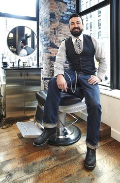 Hellooooo, Mr. Chris Salgardo Kiehl's CEO at the Kiehl's Spa. Love to tickle your beard ;) Well, is it objectification if I would love to get to know him as a person first?