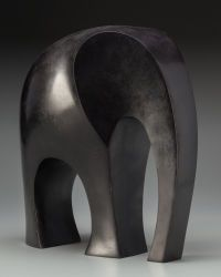 Ferdinand Parpan (French, 1902-2004). ELEPHANT, executed 2000. Bronze with dark brown patina.