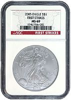Grading Service - What is a Coin Grading Service?: This coin has been encapsulated in a slab by the NGC grading service.