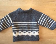 Strikkekits til bluse med de fede får str. 24 mdr - Amager Strik - Lilly is Love Kids Knitting Patterns, Knitting For Kids, Hand Knitting, Knit Baby Sweaters, Toddler Sweater, Baby Pullover Muster, Baby Cardigan, Knit Crochet, Drops Baby