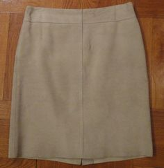 Classic EXPRESS beige suede pencil skirt - perfect for fall! $28.00 on @tradesy tradesy.com @expresslife