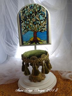 One of a Kind Beautiful Stool for  dolls by by ShariDeppDesigns, $35.00