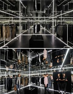 Step inside the Zuo Corp. pop-up shop in Warsaw and you'll feel as if you've just been transported to a different space altogether. Designed by Polish architects Super Super and Inside/Outside, this clothing store seems to go on forever, a frighteningly vast warehouse of a retailer that requires you to navigate daunting mazes in order to make your way back out again.