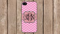 Personalized Monogram Chevron Pink Pattern cover for iPhone 4/4s/5/5s/5c Samsung Galaxy S3/S4/S5/Note 2/Note 3 by TopCraftCase, $6.99