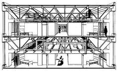 El Woodhull Medical Center en Nueva York (Kallmann & McKinnell, 1977) utiliza vigas de celosía de gran altura que permiten alojar en su interior las plantas ...