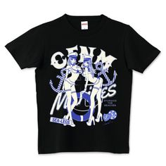 Storming The Beaches セーラーガールズ マリンブルー | デザインTシャツ通販 T-SHIRTS TRINITY(Tシャツトリニティ)