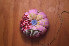 tute on pincushion or use as decorative little pumpkins