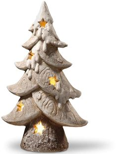 A must-have this holiday season, this National Tree Company light-up tree floor Christmas decor lends rustic seasonal style. Christmas Clay, White Christmas, Christmas Tree, Christmas Ornaments, Ornament Box, Clay Ornaments, Light Up Tree, Christmas Planning, Advent