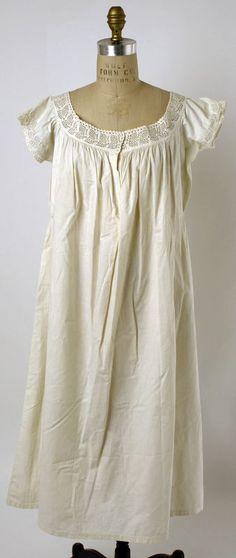 Chemise  Date1861–65  Culture: American or European  Medium: linen