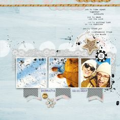 """""""yes to this""""- digital scrapbook layout by paddy wolf- made with marisa lerin """"winter fun"""" kit and """"layout templates #27""""- available at pixelscrapper.com"""